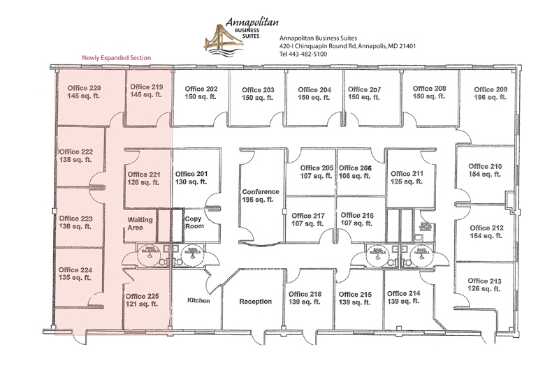 Executive Office Space in Annapolis, Maryland » Floor Plan